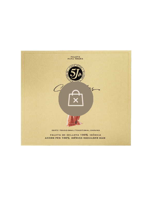 Sliced Cinco Jotas Acorn-fed 100% Ibérico Shoulder Ham, 40g