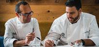 Los chefs Xanty Elías y José Pizarro reinterpretan el sabor de Cinco Jotas
