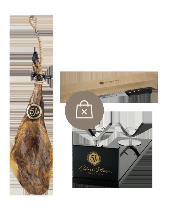 Jamón 6-7 kg con jamonero. Cuchillo de regalo