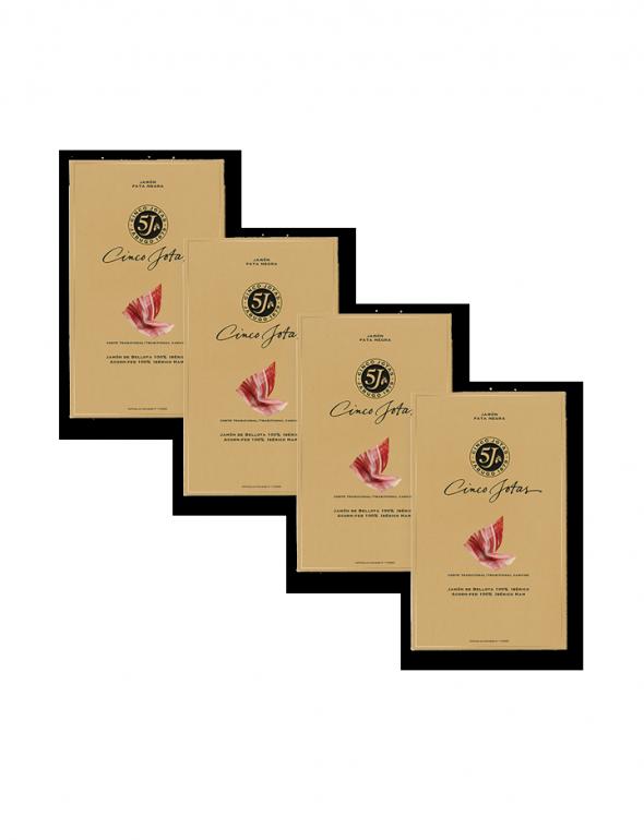 Set de loncheados de Jamón Cinco Jotas 80g con un sobre de regalo