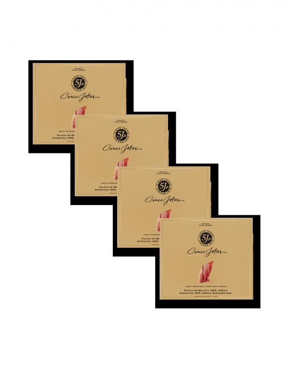 Set de loncheados de paleta Cinco Jotas 40g con un sobre de regalo