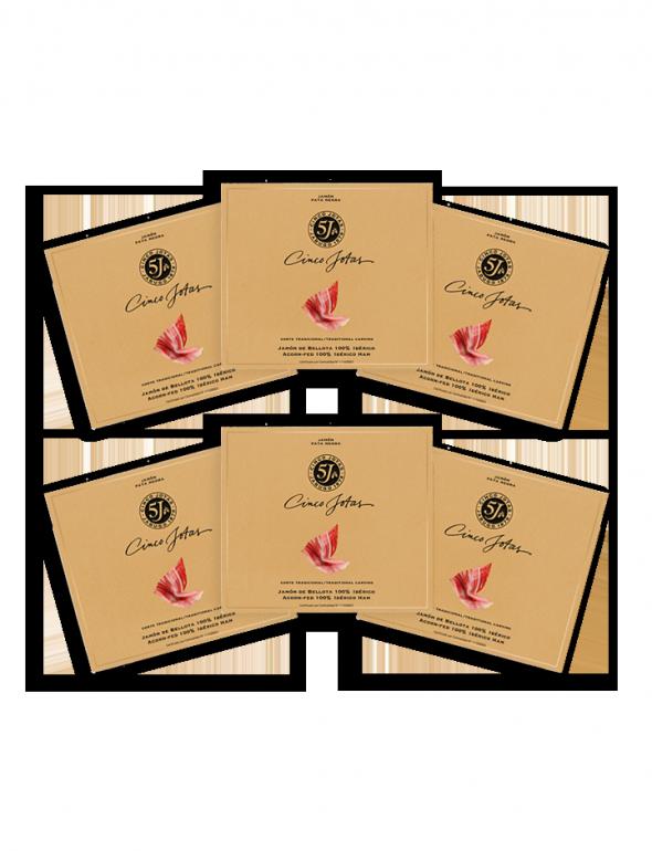 Set de loncheados de Jamón Cinco Jotas 40g con un sobre de regalo