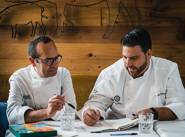 Chefs Xanty Elías y José Pizarro