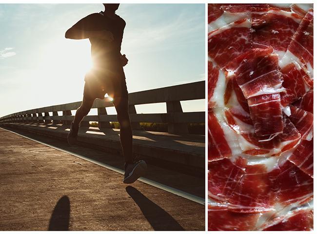 Deporte y calorias jamon iberico