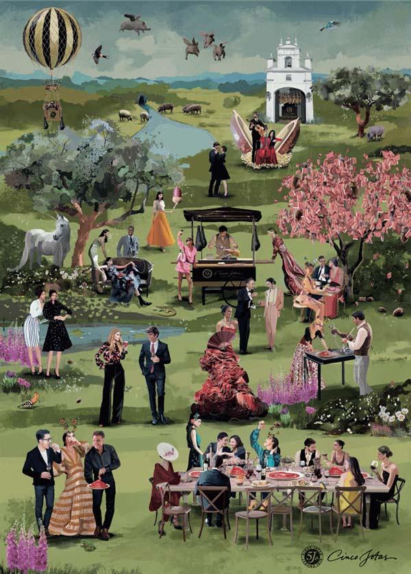 El jardín del edén de Cinco Jotas. Merello