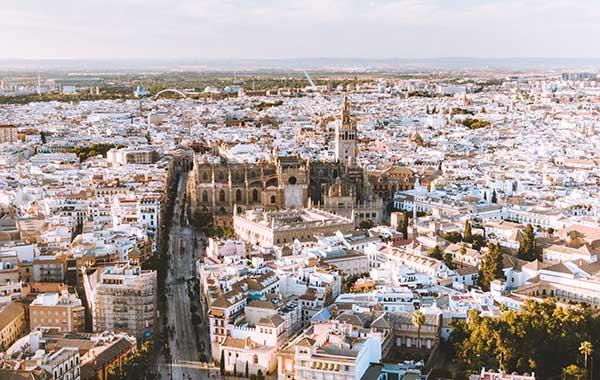 Vista panorámica de Sevilla
